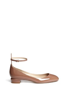 VALENTINO Patent leather ankle strap pumps