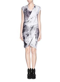 HELMUT LANGTidal print jersey drape dress