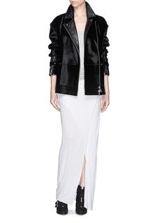 HELMUT LANGTwist front jersey maxi skirt
