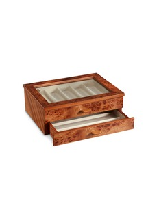Agresti Elm briar wood two-drawer watch box
