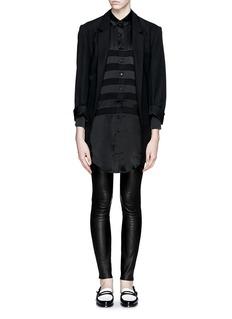 EACH X OTHER'Mariner' semi sheer silk stripe shirt