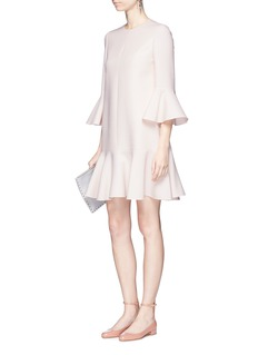 Valentino Fluted sleeve Crepe Couture dress