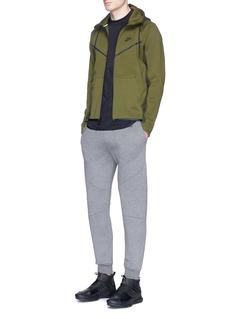 Nike'Windrunner' mesh print Tech Fleece zip hoodie