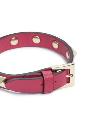 Detail View - Click To Enlarge - Valentino - 'Rockstud' calfskin leather bracelet