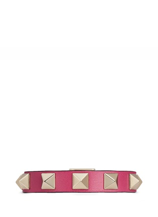 Main View - Click To Enlarge - Valentino - 'Rockstud' calfskin leather bracelet