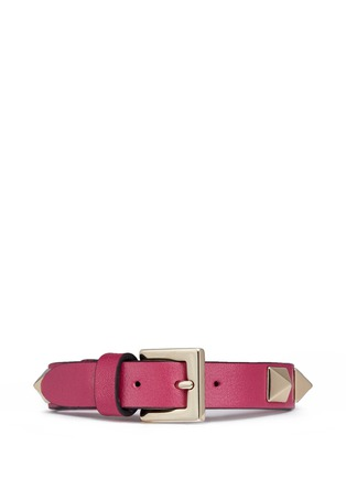 Figure View - Click To Enlarge - Valentino - 'Rockstud' calfskin leather bracelet
