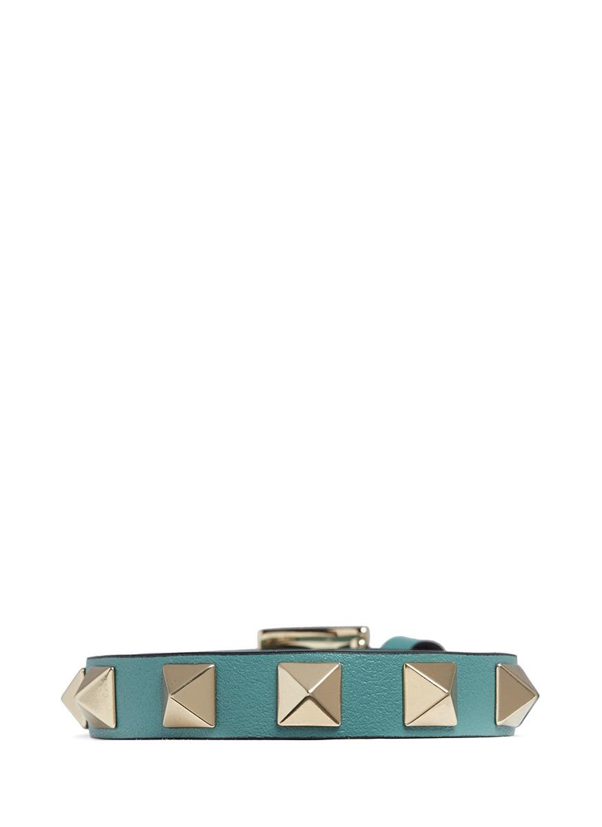 Rockstud leather bracelet by Valentino
