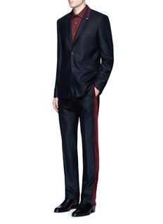 Givenchy Velvet stripe wool pants