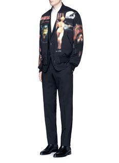 Givenchy'Heavy Metal' print padded bomber jacket
