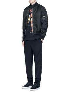 Givenchy 'Heavy metal' print patchwork sweatshirt