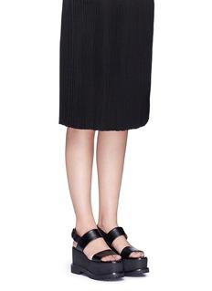Givenchy'Ursa' slingback leather platform sandals