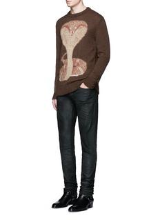 GivenchyCobra intarsia mohair-wool sweater