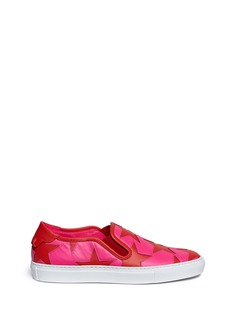 Givenchy'Street' cutout star patchwork leather skate slip-ons