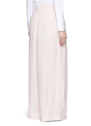 Back View - Click To Enlarge - Chloé - Pleat linen blend wide leg pants