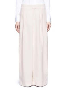 Chloé Pleat linen blend wide leg pants