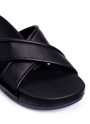 Detail View - Click To Enlarge - Figs By Figueroa - 'Figomatic' leather strap hinged slide sandals