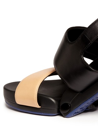 Detail View - Click To Enlarge - Figs By Figueroa - 'Figulous' leather strap hinged slingback sandals