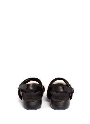 Back View - Click To Enlarge - Figs By Figueroa - 'Figulous' leather strap hinged slingback sandals
