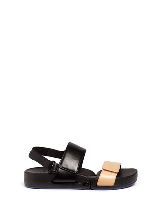 Main View - Click To Enlarge - Figs By Figueroa - 'Figulous' leather strap hinged slingback sandals