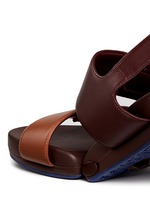 'Figulous' leather strap hinged slingback sandals