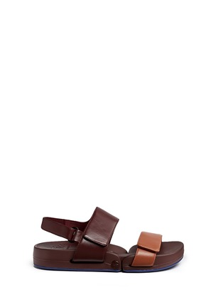 Figs By Figueroa - 'Figulous' leather strap hinged slingback sandals