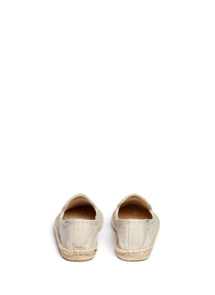 Back View - Click To Enlarge - Soludos - x Jason Polan 'Wink' embroidery cotton espadrilles