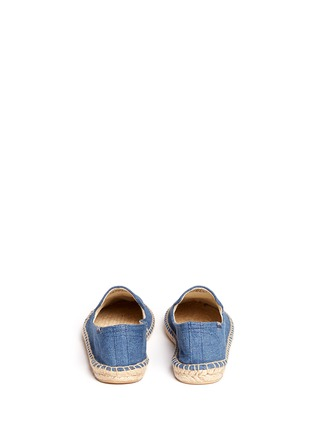 Back View - Click To Enlarge - Soludos - x Jason Palon 'Donut' embroidery denim espadrilles