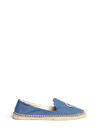 Main View - Click To Enlarge - Soludos - x Jason Palon 'Donut' embroidery denim espadrilles