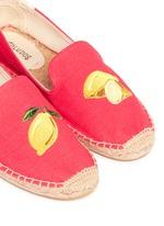 x Jason Palon 'Lemons' embroidery linen espadrilles