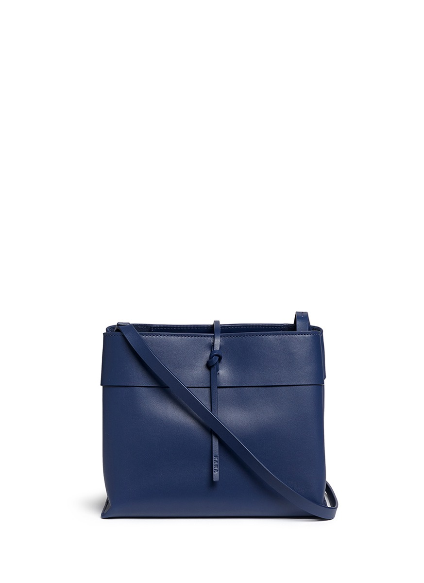 Tie Crossbody leather bag by Kara