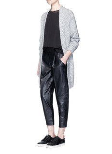 Vince Tuck pleat lambskin leather pants