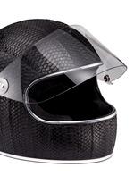 'California' water snake leather motorcycle helmet