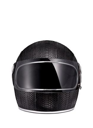 Main View - Click To Enlarge - Elisabeth Weinstock - 'California' water snake leather motorcycle helmet