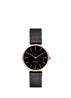 Myku&nbsp;One of a kind<br/>Black onyx gold plated watch