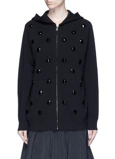 Marc JacobsJewel embellished zip-up knit hoodie