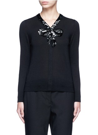 Main View - Click To Enlarge - Marc Jacobs - Sequin embellished wool cardigan