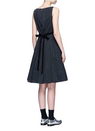 Back View - Click To Enlarge - Marc Jacobs - Velvet waist tie faille dress