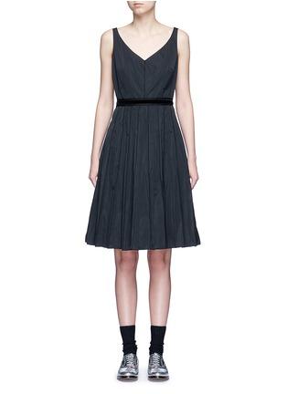 Main View - Click To Enlarge - Marc Jacobs - Velvet waist tie faille dress