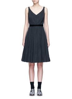 Marc JacobsVelvet waist tie faille dress