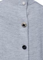 Jewel button back wool sweater