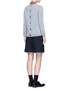 Marc Jacobs Jewel button back wool sweater
