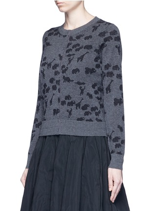 Front View - Click To Enlarge - Marc Jacobs - Animal intarsia cashmere knit sweater