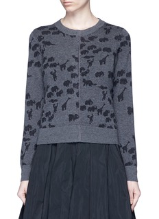 Marc JacobsAnimal intarsia cashmere knit sweater