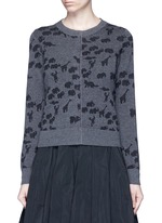 Animal intarsia cashmere knit sweater