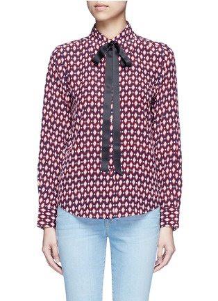 Main View - Click To Enlarge - Marc Jacobs - Neck tie diamond print silk shirt
