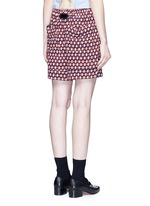 Vintage diamond print silk shorts