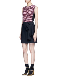 MARC JACOBS Vintage diamond print silk sleeveless blouse