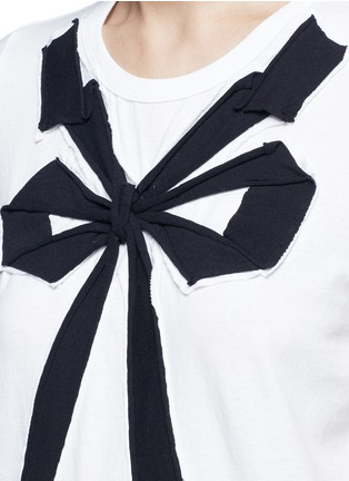 Detail View - Click To Enlarge - Marc Jacobs - Bow appliqué T-shirt
