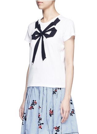 Front View - Click To Enlarge - Marc Jacobs - Bow appliqué T-shirt