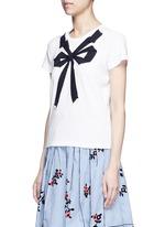 Bow appliqué T-shirt